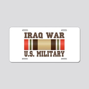 Iraq War Service Ribbon Aluminum License Plate