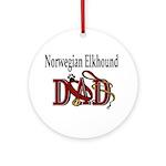 Norwegian Elkhound Dad Ornament (Round)