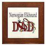 Norwegian Elkhound Dad Framed Tile