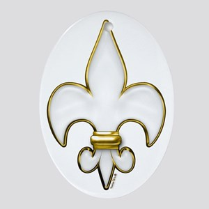 Fleur De Lis Heaven Ornament (Oval)