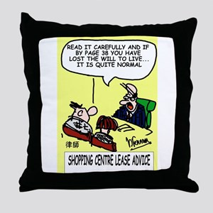 Lease Lawyer's Throw Pillow