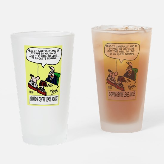 Lease Lawyer's Drinking Glass