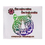tiger face Throw Blanket