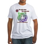 tiger face Fitted T-Shirt