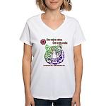tiger face Women's V-Neck T-Shirt