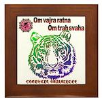 tiger face Framed Tile