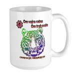 tiger face Large Mug