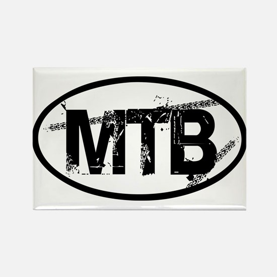MTB Oval Rectangle Magnet