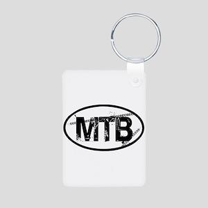 MTB Oval Aluminum Photo Keychain