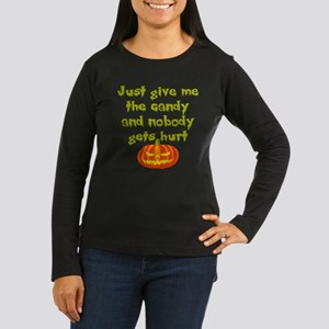Give me the candy Women's Long Sleeve Dark T-Shirt