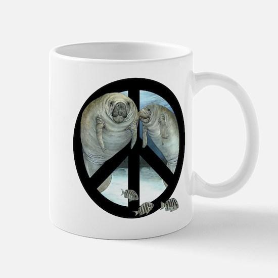 peace manatee Mugs