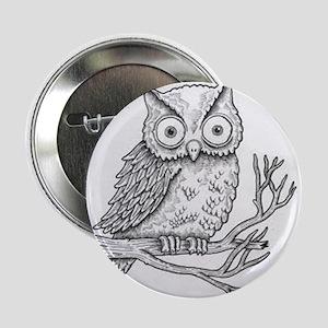 "owl-black and white 2.25"" Button"