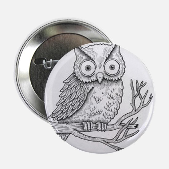 "owl-black and white 2.25"" Button"
