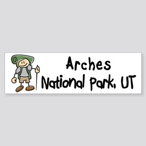 Hike Arches (Boy) Bumper Sticker