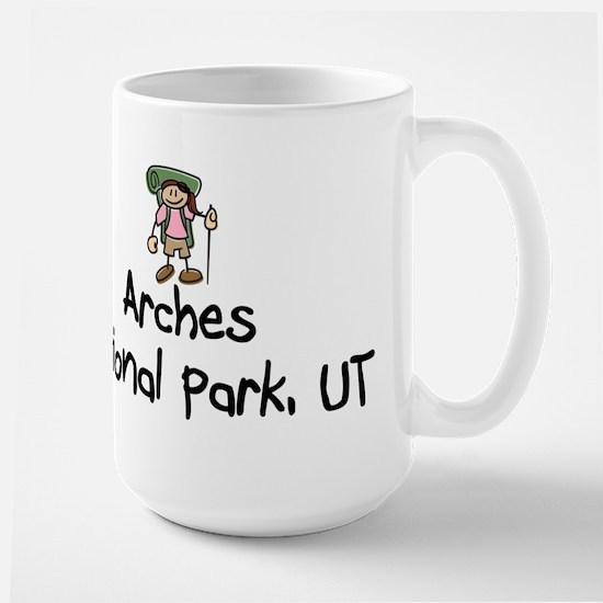 Hike Arches (Girl) Large Mug