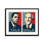 Walk the Talk Framed Panel Print