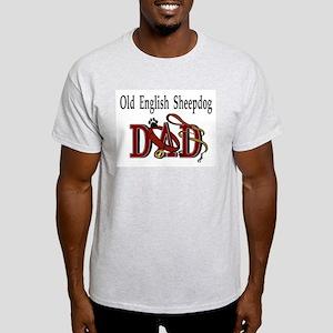 Old English Sheepdog Dad Ash Grey T-Shirt