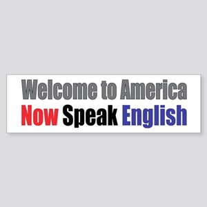 Speak English Bumper Sticker