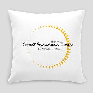 sunbeam eclipse_black Everyday Pillow