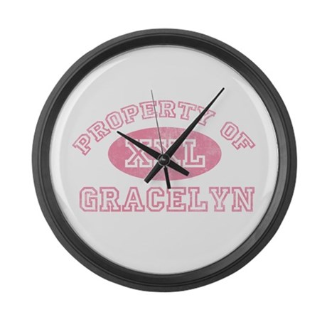 Property of Gracelyn Large Wall Clock