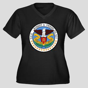 Air Carrier Wing Women's Plus Size V-Neck Dark T-S