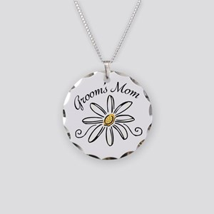 Daisy Mother of Groom Necklace Circle Charm