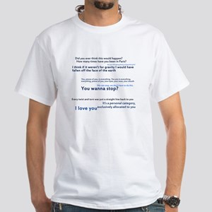 For Lovers Only 'Words' White T-Shirt