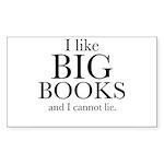 I LIke Big Books Sticker (Rectangle 50 pk)