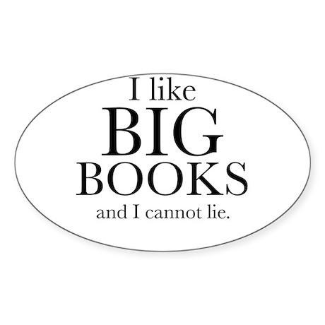 I LIke Big Books Sticker (Oval 10 pk)