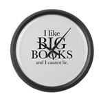 I LIke Big Books Large Wall Clock