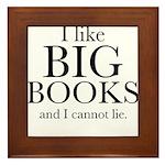 I LIke Big Books Framed Tile