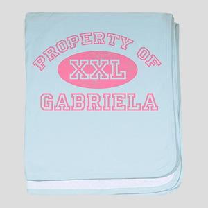 Property of Gabriela baby blanket