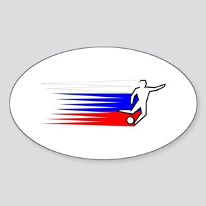 Football - Russia Sticker (Oval)