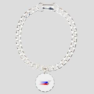 Football - Russia Charm Bracelet, One Charm