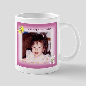 Baby Girl On Moon Personalized Mug - Custom Mugs