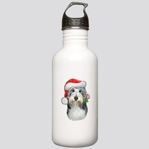 Bearded Collie Christmas Stainless Water Bottle 1.