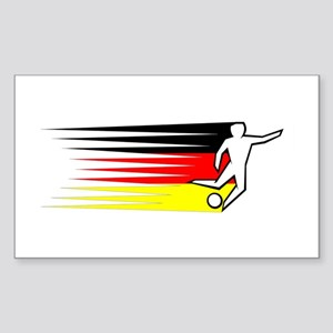 Football - Germany Sticker (Rectangle)