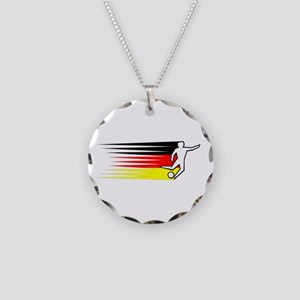 Football - Germany Necklace Circle Charm