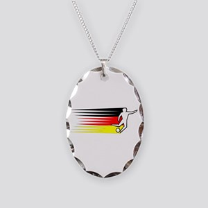 Football - Germany Necklace Oval Charm