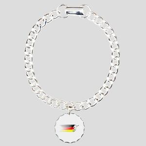 Football - Germany Charm Bracelet, One Charm
