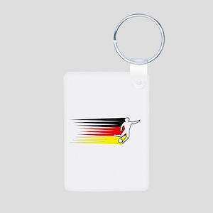 Football - Germany Aluminum Photo Keychain