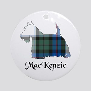 Terrier-MacKenzie dress Round Ornament