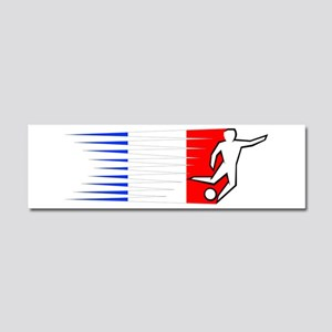 Football - France Car Magnet 10 x 3