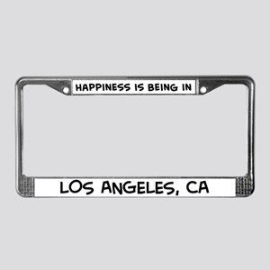 Happiness is Los Angeles License Plate Frame