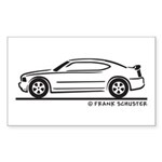 New Dodge Charger Sticker (Rectangle 50 pk)
