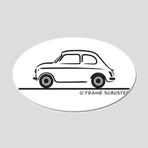 Fiat 500 22x14 Oval Wall Peel