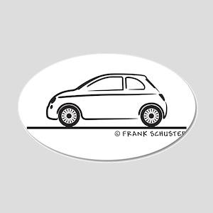New Fiat 500 Cinquecento 22x14 Oval Wall Peel
