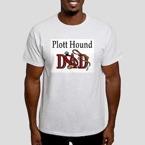 Plott Hound Dad Ash Grey T-Shirt