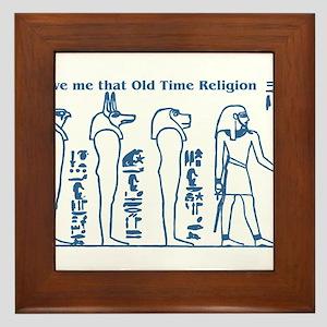 Old Time Religion Framed Tile