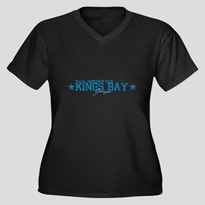 NSB Kings Bay Women's Plus Size V-Neck Dark T-Shir